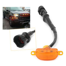 1pcs Amber LED Light Front For Ford F150 F-150 Grill Grilles Replacement
