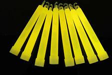DirectGlow 25 Count Yellow Jumbo 6 Inch Glow Sticks 12+ Hour Glow