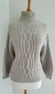 THE WHITE COMPANY 100% MERINO WOOL CABLE KNIT JUMPER MEDIUM  EXCELLENT CONDITION