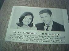 ephemera sussex 1966 engagement mr s c pattenden miss m h tilstone cirencester