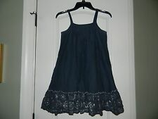 Girl's Old Navy Gray Dress w/Silver Hem Size L 10/12