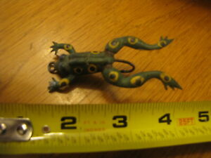 VINTAGE UNKNOWN RUBBER FROG FISHING LURE NICE CONDITION  L@@K!!!!!
