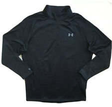 Under Armour Mens Ua Base 2.0 ¼ Zip Long Sleeve Shirt Black 1281120 Nwt $60 3Xl