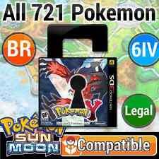Unlocked Y 100% LEGAL Battle Ready Pokemon SUN & MOON Compatible!! + CuStOmIze!!