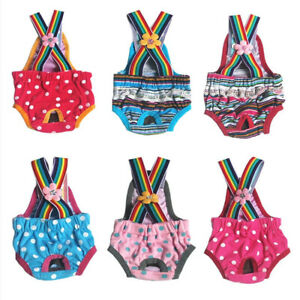 Reusable Pants For Female Dog Physiological Menstrual Hygiene Cute Pet Overalls