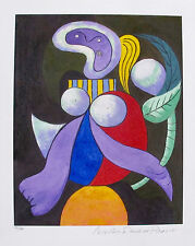 Pablo Picasso WOMAN WITH A FLOWER Estate Signed & Numbered Small Giclee