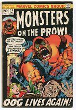 Monsters on the Prowl 20 Vg/Fn Marvel Comics Cbx36