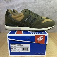 New Balance 696 Sz 11 Classic Traditionnels Olive Green Mens Casual Shoes