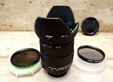 Sigma 18-200mm Macro f/3.5-6.3 OS DC Lens For Nikon with two filters.