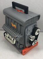 Hot Wheels Sto N Go V-8 Engine Block Motor Car Carrying Case Mattel 1999 Vintage