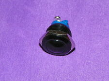 3 Amp Dome-top Black momentary push button switch - 16mm