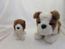 Douglas Plush Lot of 2 Brown and White Dogs Bulldog and Beagle