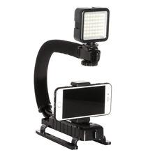C Shape Stabilizer Handle Grip Holder+ 49 LED Light For Smart Phone Video Camera