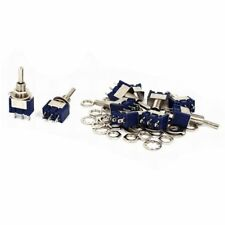 10Pcs AC 125V 5A SPDT ON-OFF-ON Latching Miniature Toggle Switch Blue C3E1