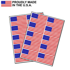 """Pack of 20 American Flag Decal USA Sticker Made in USA 2.5"""" Each"""