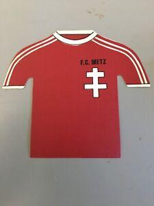 Ancien Autocollant Mini Maillot Fc Metz Foot Fan Annee 80 Vintage Collector