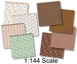 1:144 Scale Dollhouse - Wee Little Wallpapers 14, Dollhouse or Dutch Baby Scale