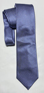CHARLES TYRWHITT BLUE TIE 100% SILK HOUNDSTOOTH 58''/3.5'' GOOD CONDITION