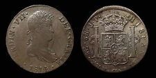 pci1284) SPAIN Fernando VII 8 Reales 1814 Lima J.P. Toned from old collection