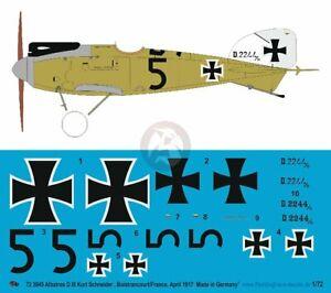Peddinghaus 1/72 Albatros D.III Markings '5' Kurt Schneider Jasta 5 France 3945