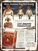 1926 Aunt Jemima PanCake Flour Old Time Southern Replica Metal Sign 9x12 A586