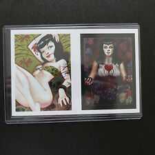 BETTIE PAGE ULTRA RARE COLLECTION 2 UNCUT SHEET OVERSIZE SPOT FOIL CARDS SF1 SF2