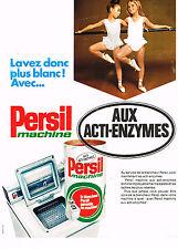 PUBLICITE ADVERTISING 045  1969  PERSIL  lessive aux enzymes
