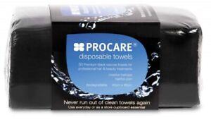 Procare Disposable Towels Black (50)