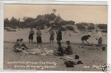 RPPC - Waverly Beach, Ind. - Family Picnic on at the Dunes - 1940s era