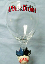 New Chicago Cubs and White Sox Wine Glass A House Divided 2 Teams Holds 16 oz