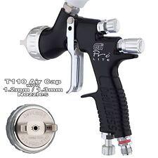 Devilbiss Prolite Nero t110 CLEARCOAT/Lucido Liscio Pistola Spruzzo 1.2/1.3mm Setup