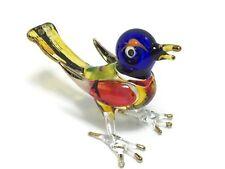 TINY CRYSTAL BIRD HAND BLOWN CLEAR GLASS ART BIRD FIGURINE ANIMAL COLLECTION