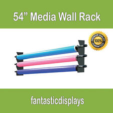 """54"""" Wall Media Storage Rack Vinyl Rolls / Fabric for Sign Shops and Printing"""