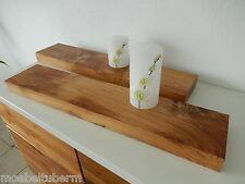 2xWandboard Eiche Wild Rustikal Massiv Holz Board Regal Steckboard Regalbrett