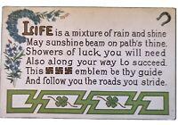 Good Luck Swastika Emblem Meaning Quotation Antique 1913~ Postcard-h11