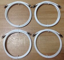 6 Ft,Feet White Rg6 Digital HD Coax/Coaxial Satellite TV Cable (LOT OF 4)