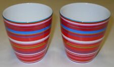 Iittala Origo Multicolor / Red Cups, Mugs 2 Alfredo Häberli 1999 Arabia Finland