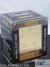 GOLD MTG FLIP BOX MANA SYMBOLS ULTRA PRO MAGNETIC DECK BOX CARD BOX