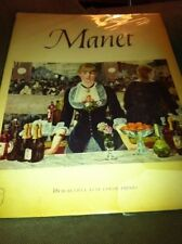 """Manet"" Vintage Abrams Art Book Full Color Prints 1953 Dust Jacketed"