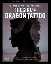 The Girl With the Dragon Tattoo (Blu-ray/DVD, 2012, 3-Disc set) NEW!