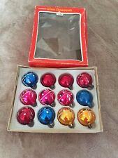 Vintage Glass Christmas Decorations Tree Ornaments BaubleOriginal Box Woolworths