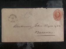 1888 Bandung Netherlands Indies Postal Stationary Cover To Batavia