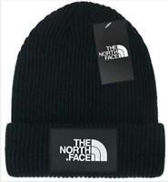 Black The North Face Warm Unisex Ski Wear Skull Cap Winter Wooly Beanie Hat Men