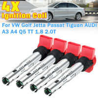 4PCS Ignition Coil For AUDI A3 A4 Q5 TT 1.8 2.0T Golf VW Jetta Passat Tiguan  !