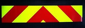 Rear Chevrons Fluorescent / Reflective  Magnetic / Self Adhesive vehicle sign