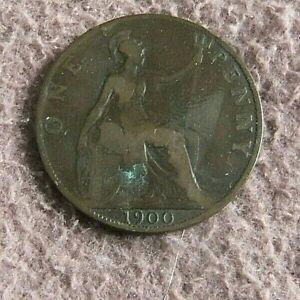 rare  1900   queen vic.  one penny