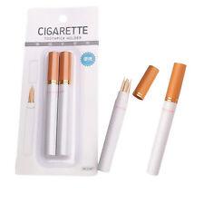 2pcs/set Outdoor Portable Two Sticks Cigarette Shape Toothpick Holder Case Box