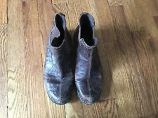 Clarks Bendables Leather Ankle Boots Sz 7.5 Distressed Brown Pull On 39281