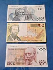More details for belgium  500/200/100 franc banknote