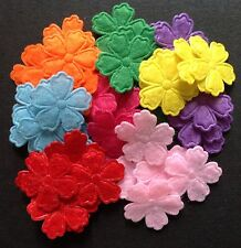 Thin Felt flowers Mixed Colour Embellishments 21mm Pack of 50